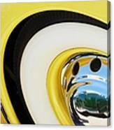 1937 Cord 812 Phaeton Wheel Rim Reflecting Cadillac Canvas Print