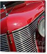 1937 Desoto Front Grill And Head Light 7285 Canvas Print