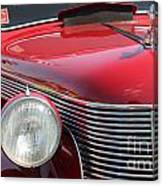 1937 Desoto Front Grill And Head Light-7289 Canvas Print