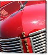 1937 Desoto Front Grill Canvas Print