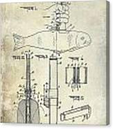 1937 Fishing Knife Patent Canvas Print