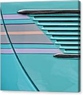 1937 Ford Sedan Slantback Door Detail Canvas Print