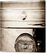 1937 Hudson Terraplane Pickup Truck Taillight Emblem Canvas Print