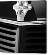 1937 International D2 Pickup Truck Grille Emblem Canvas Print