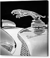 1937 Jaguar Prototype Hood Ornament -386bw55 Canvas Print
