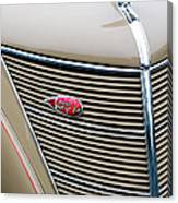 1937 Lincoln-zephyr Coupe Sedan Grille Emblem - Hood Ornament Canvas Print