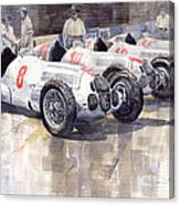 1937 Monaco Gp Team Mercedes Benz W125 Canvas Print