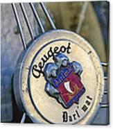 1937 Peugeot 402 Darl'mat Legere Special Sport Roadster Recreation Steering Wheel Emblem Canvas Print