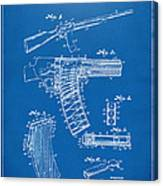 1937 Police Remington Model 8 Magazine Patent Artwork - Blueprin Canvas Print