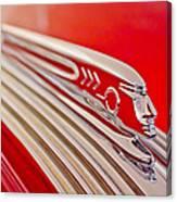 1937 Pontiac Chief Custom Hood Ornament Canvas Print