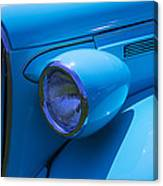 1938 Blue Plymouth Coupe Canvas Print