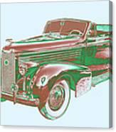 1938 Cadillac Lasalle Antique Pop Art Canvas Print