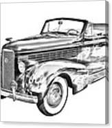 1938 Cadillac Lasalle Illustration Canvas Print
