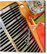 1938 Chevrolet Coupe Grille Emblems Canvas Print
