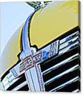 1938 Chevrolet Coupe Hood Ornament -0216c Canvas Print