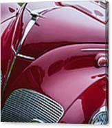 1938 Lincoln-zephyr Convertible Coupe Grille - Hood Ornament - Emblem Canvas Print