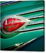 1938 Lincoln Zephyr Emblem Canvas Print