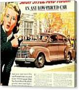 1939 - Plymouth Automobile Advertisement - Color Canvas Print