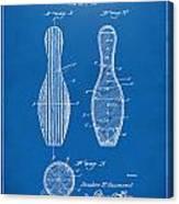 1939 Bowling Pin Patent Artwork - Blueprint Canvas Print