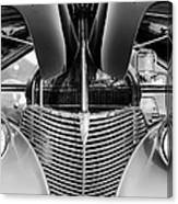 1939 Chevrolet Coupe Grille -115bw Canvas Print