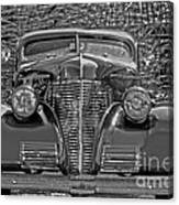 1939 Chevy Immenent Front Bw Art Canvas Print
