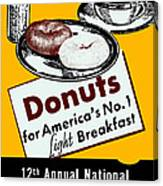 1940 Donut Poster Canvas Print
