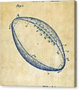 1939 Football Patent Artwork - Vintage Canvas Print