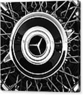 1939 Mercedes-benz 540k Special Roadster Wheel Rim Emblem Canvas Print