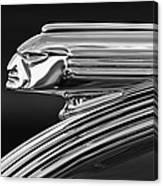 1939 Pontiac Silver Streak Hood Ornament 3 Canvas Print