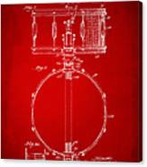 1939 Snare Drum Patent Red Canvas Print