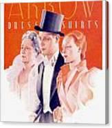 1940 - Arrow Shirts Hans Flato Advertisement - 1940 Canvas Print