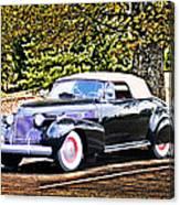 1940 Cadillac Coupe Convertible Canvas Print