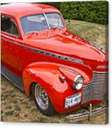 1940 Chevrolet 2 Door Sedan Canvas Print