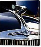 1940 Chevy Coupe Hood Ornament Canvas Print