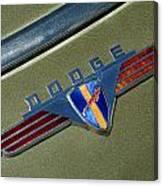1940 Dodge Nameplate Canvas Print