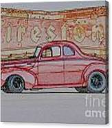 1940 Ford Coupe Illustration Canvas Print