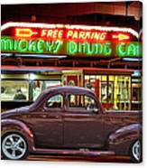 1940 Ford Deluxe Coupe At Mickeys Dinner  Canvas Print