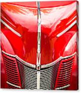 1940 Ford Deluxe Coupe Grille Canvas Print