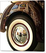 Classic Maroon 1940 Ford Rear Fender And Wheel   Canvas Print
