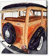 1940 Ford Woody Canvas Print
