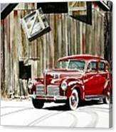 1940 Hudson And Barn Canvas Print