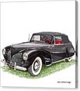 Lincoln Zephyr Cabriolet Canvas Print