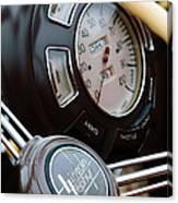 1938 Lincoln-zephyr Continental Cabriolet Steering Wheel Emblem -1817c Canvas Print