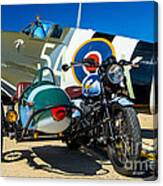 1940 Triumph And Supermarine Mk959 Spitfire  Canvas Print