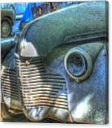 1940s Antique Chevrolet Hood View Canvas Print