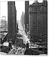 1940s Downtown Skyline Michigan Avenue Canvas Print