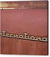 1940s Era International Harvester Truck Insignia Canvas Print