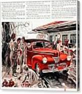 1941 - Ford Super Deluxe Automobile Advertisement - Color Canvas Print