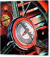 1941 Buick Eight Special Steering Wheel Emblem Canvas Print