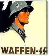 1941 - German Waffen Ss Recruitment Poster - Nazi - Color Canvas Print
